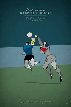 Argentina 2 England 1 in 1986. Diego Maradona and the hand of God.