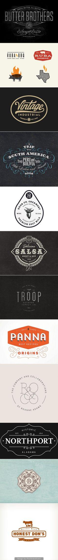 Vintage & Retro Logo Designs: