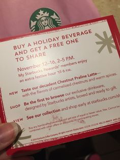 #Starbucks #free #bogo drink deal