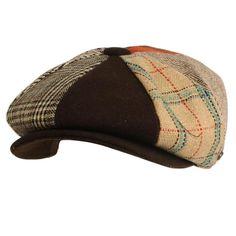 c04a5764470db Men s Wool Winter Herringbone Plaids Newsboy Cabbie Gatsby Cap Hat Brown L  58cm  fashion