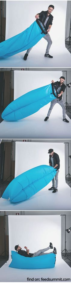 The amazingly easy to inflate Lamzac Hangout!
