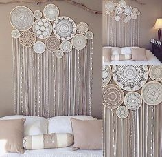 Dreamcatcher Collective Kits Reserved listing for Emma Venning 10 Set Need fantastic hints regarding crafts? Embroidery Hoop Decor, Wedding Embroidery, Doily Dream Catchers, Doily Art, Doilies Crafts, Hoop Dreams, Bedroom Decor, Wall Decor, Nursery Decor