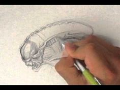 How to Draw Alien from Aliens  #sketchmonster  #coolstufftodraw   #howtodrawcoolthings  #funthingstodraw    #fantasyart