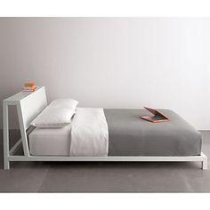 Bedroom design: Headboard ideas // alpine white queen bed in bedroom furniture Iron Furniture, Modern Bedroom Furniture, Furniture Design, Contemporary Furniture, Modern Contemporary, Broyhill Furniture, King Beds, Queen Beds, White Queen Bed