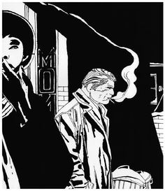 The detective Alack Sinner, whose adventures are written by Carlos Sampayo, is drawn by José Muñoz.