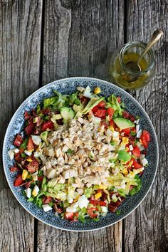 B.L.A.T. Chopped Chicken Salad | milk-and.blogspot.com