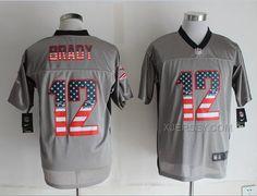 http://www.xjersey.com/nike-patriots-12-brady-usa-flag-fashion-grey-shadow-jerseys.html Only$38.00 #NIKE PATRIOTS 12 BRADY USA FLAG FASHION GREY SHADOW JERSEYS Free Shipping!
