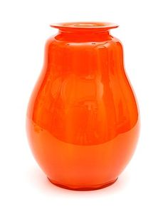 Botterweg Auctions Amsterdam Orange glass Serica vase with vertical optical layers design A.Copier 1926 executed by Glasfabriek Leerdam / the Netherlands Layers Design, Netherlands, Art Decor, Amsterdam, Objects, Auction, Interiors, Glass, Amazing