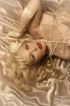 satin sheets and pearls