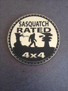 Sasquatch Rated Jeep Badge www.4x4tabs.com