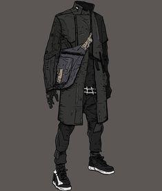 by Anton (Yoshimitszu) Mode Cyberpunk, Cyberpunk Aesthetic, Cyberpunk Fashion, Cyberpunk Clothes, Armor Concept, Concept Art, Character Concept, Character Art, Mode Sombre