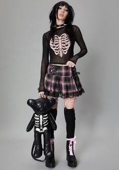 Edgy Outfits, Grunge Outfits, Cool Outfits, Fashion Outfits, Scene Outfits, Alternative Outfits, Alternative Fashion, Mode Harajuku, Punk Fashion