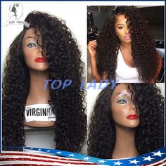 Long Afro Kinky Curly Wig Virgin Brazilian Lace Front Wig Kinky Curly Glueless Human Hair Full Lace Wig With Baby Hair Full Lace Wigs Under 100 Dollars Hair Wigs For Sale From Topladyhouse, $110.93  Dhgate.Com