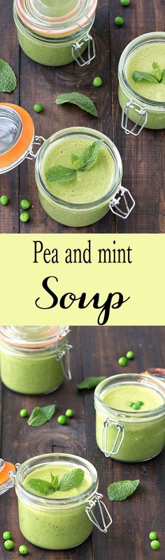 This spring pea and mint soup is fresh, creamy, low in calories and ...