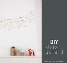 DIY: stars garland {and new diy page!}
