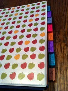 Organize your stickers by month/season in a binder!