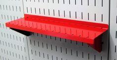 Wall Control Pegboard Shelf 4in Deep Pegboard Shelf Assembly for Wall Control Pegboard and Slotted Tool Board - Red by Wall Control, http://www.amazon.com/dp/B00ARIB1C6/ref=cm_sw_r_pi_dp_wEufrb1V1R5XP