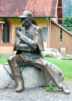 Sherlock Holmes Statue in Meiringen, Switzerland (near Reichenbach Falls)