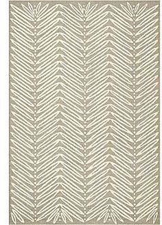 Martha Stewart RugsTM Chevron Leaves Rectangular Rugs – Chamoise Beige $179.99 thestylecure.com