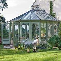 Conservatory and glass house ideas Conservatory design and ideas Victorian Conservatory, Conservatory Design, Victorian Greenhouses, Glass Conservatory, Glass House Garden, Home And Garden, Garden Houses, Glass Green House, Glass House Design