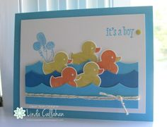 Stampin' Seasons: A Paddling of Ducks....FMS137 - Something fro Baby - new from the Stampin' Up 2014-2015 Annual Catalog.