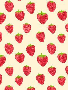 Strawberries Seamless Pattern - Mervi Emilia Studio App Background, Web Design, Logo Design, Drupal, Surface Pattern, Pattern Paper, Paper Design, Digital Scrapbooking, Illustration Art