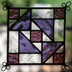 glass panels NEW Set of 4 Stained Glass Quilt Pattern Suncatcher 409 Stained Glass Studio, Stained Glass Quilt, Stained Glass Light, Stained Glass Suncatchers, Stained Glass Designs, Stained Glass Projects, Fused Glass Art, Stained Glass Patterns, Glass Wall Art