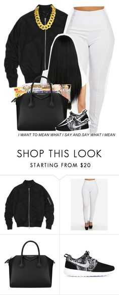 """""""."""" by independentbxtchesonly ❤ liked on Polyvore featuring Givenchy, NIKE, women's clothing, women's fashion, women, female, woman, misses and juniors"""