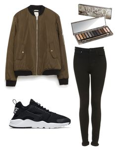 Untitled #38 by luckakofronova on Polyvore featuring polyvore, moda, style, Zara, Topshop, NIKE, Urban Decay, fashion and clothing