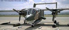 OV-10 Bronco (Fuerza Aérea Venezolana) 7 puntos de soporte. 4 ametralladoras de 7,62 mm integradas. Capaz de llevar 5 pasajeros. Excelente visibilidad frontal y lateral