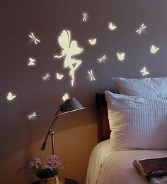 Glow in the dark fairy wall stickers - $9.98! Izzy's room! @kathycowles