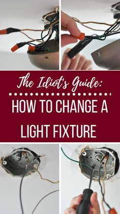 The Idiot's Guide: How to Change a Light Fixture Afraid to change your light fixture yourself? Don't stress, I wrote the Idiot's Guide to how to change a light fixture yourself! Living Room Light Fixtures, Diy Light Fixtures, Kitchen Lighting Fixtures, Replace Light Fixture, Light Fixture Makeover, Stress, Home Electrical Wiring, Diy Exterior, Home Fix