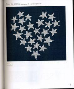 of July Pattern Cross Stitch Sea, Free Cross Stitch Charts, Cross Stitch Borders, Cross Stitching, Cross Stitch Patterns, Embroidery Hearts, Cross Stitch Embroidery, Graph Paper Art, Bobble Stitch
