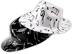 Music Note Fedoras - $8.72 per 12 pack from 4funparties.com