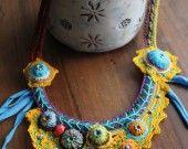 Superbe collier textile!!!