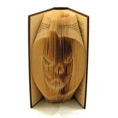 Folded Book Art Pumpkin Hand crafted Pumpkin by Bookfolding