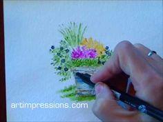 How to video: Art Impressions: Ai Wonderful Watercolor: Project Series 1 Watercolor Video, Watercolor Projects, Watercolor Images, Watercolour Tutorials, Watercolor Techniques, Watercolor Cards, Art Techniques, Watercolor Flowers, Watercolor Paintings