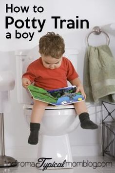 How to Potty Train a Boy by Tips From a Typical Mom. Is your child ready? How do you start?