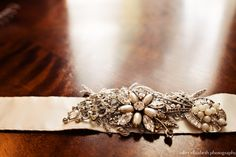 belt, handmade by bride  http://julietelizabethblog.com/emily-morgan-old-fort-jackson-wedding-savannah-ga/