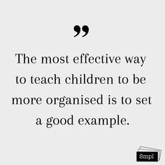 @smplsweden posted to Instagram: The most effective way to teach children to be more organized is to set a good example.    #organize #declutter #organized #simplify #children #goodexample #citat #quotes #ordningochreda #rensa #gottexempel #keepitsmpl #hållbarvardag #smpl