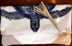 Vielseitig und stilvoll. Turtle Motiv iPad Carrier/Cover oder Falten über Clutch aus Echtleder und 100 % Baumwolle Maßnahmen 12 x 12 Zoll. Dies