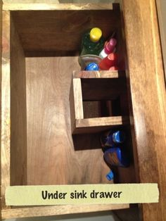 Under Sink Drawer With Cutout To Fit Around Pipes For The Home Pinterest