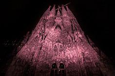 """Sagrada Família, 19/10/2012. [CA] Imatges de la campanya de sensibilització """"Suma't al rosa"""" impulsada per l'AECC coincidint amb el Dia Internacional contra el càncer de mama. [ES] Imágenes de la campaña de sensibilización """"Súmate al rosa"""" impulsada por la AECC coincidiendo con el Día Internacional contra el cáncer de mama."""