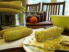 Home canned cream style corn