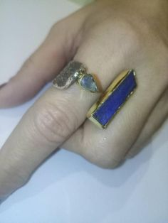 Absolutely handmade one of a kind silver and gold ring.