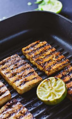 The BEST Grilled Marinated Tofu. It& loaded with flavor, easy to make, healthy, oil-free, and delicious. It& great for sandwiches or as the main dish over rice. Perfect for a quick and easy dinner. Whole Food Recipes, Cooking Recipes, Cooking Hacks, Cooking Chef, Cooking Tools, Pizza Recipes, Casserole Recipes, Bread Recipes, Crockpot Recipes