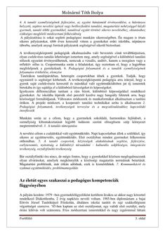 Molnárné Tóth Ibolya Szakmai önéletrajz | PDF to Flipbook Words, Horse