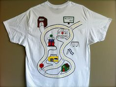 such aa cool idea.  dad wears the shirt and the boys drive cars on his back!