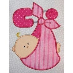 cute baby -Bundle of Joy  Machine embroidery applique design 5x7 or 4x4 hoop cute for boy or girl