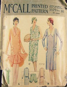 McCall 5579 | 1920s Ladies' and Misses' Dress with Bloomers